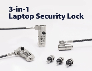 SINOX Office Security - 3-in-1 Laptop Security Lock