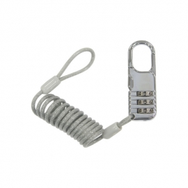 Coiled Cable Lock - PL0683SC Model